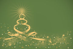 Christmas background. With snowflakes and christmas tree stock illustration