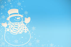 Christmas background. With snowman Stock Photography