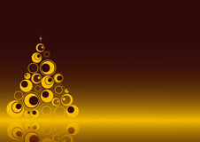 Christmas background  3. A simple christmas background with a retro tree and the own reflex.EPS file is available Royalty Free Stock Photos