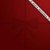 Christmas background. With a red bow vector illustration