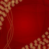 Christmas background. Snow flakes on red vector illustration