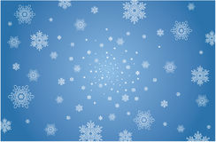 Christmas background. Blue christmas background with stars Stock Photography