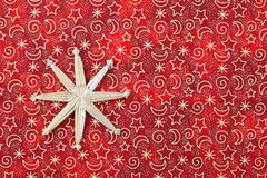 Christmas background. Red christmas background with decoration royalty free stock images