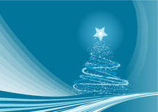 Christmas Background. Blue Abstract vector background with sparkling stars royalty free illustration