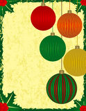 Christmas Background. With Colorful Ornaments Royalty Free Stock Photo