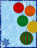 Christmas Background. With Colorful Ornaments Royalty Free Stock Photos