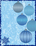 Christmas Background. With Beautiful Ornaments Stock Image