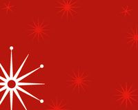 Christmas background. Funky star christmas background Royalty Free Stock Image