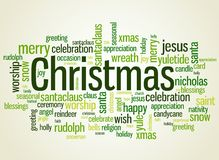 Christmas wordcloud Stock Image