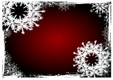 Christmas  background. Red grunge christmas snowflakes floral  background Stock Photos