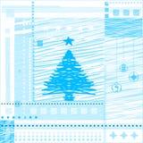 Christmas  background. Stylized tree, balls, vector Royalty Free Stock Photo