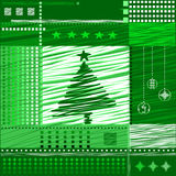 Christmas  background. Stylized tree, balls, vector, avant-garde Stock Photos