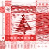 Christmas background. Stylized tree, balls, vector Vector Illustration