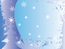 Christmas background. With white snowflakes vector illustration