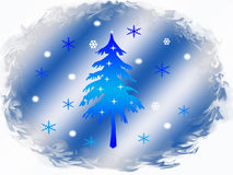Christmas background. View from the frosty port on the snowy winter Stock Photography