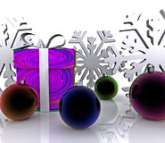 Christmas Background - 3D Royalty Free Stock Photography