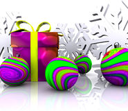 Christmas Background - 3D Stock Image