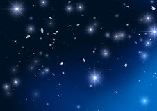 Christmas background. 3d stars on christmas background Stock Photos