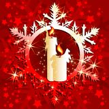 Christmas background. With candles, illustration Royalty Free Stock Photo