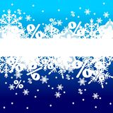 Christmas background. With snow, illustration Royalty Free Stock Images