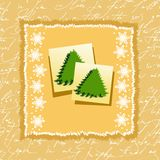 Christmas background. With fir trees, illustration Vector Illustration