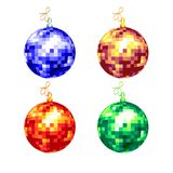 Christmas background. With christmas ball, illustration Royalty Free Stock Image