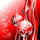 Christmas background. With christmas ball, illustration Stock Photo
