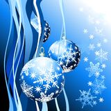 Christmas background. With christmas ball, illustration Stock Images