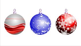 Christmas background. With christmas ball, illustration Stock Photography