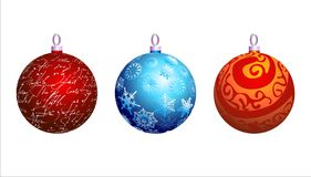 Christmas background. With christmas ball, illustration Royalty Free Stock Photos
