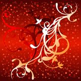 Christmas background. With floral elements, illustration Vector Illustration