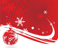 Christmas background. Christmas wave background, vector illustration Stock Photos