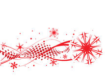 Christmas background. Christmas wave background, vector illustration Royalty Free Stock Photos
