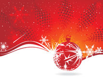 Christmas background. Christmas wave background, vector illustration Royalty Free Stock Photo