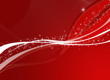 Christmas background. Editable  red christmas background with space for your text Stock Images
