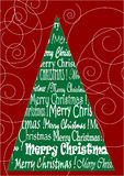 Christmas background. Green Christmas tree with red background Stock Image