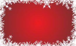 Christmas background. Snowflake red christmas background, vector illustration Stock Images