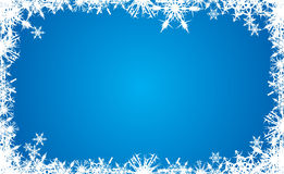 Christmas background. Snowflake blue Christmas background, vector illustration Royalty Free Stock Photo