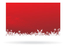 Christmas background. Snowflake red christmas background, vector illustration Royalty Free Stock Images