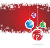 Christmas background. Abstract Christmas background with snowflakes. Vector royalty free illustration