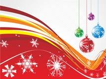 Christmas background. Wave line christmas background, vector illustration royalty free illustration