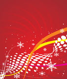 Christmas background. Abstract Christmas background with snowflakes. Vector Illustration stock illustration