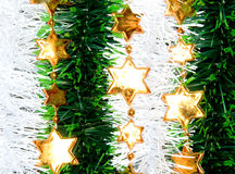 Christmas background. Gold stars, holiday decoration Royalty Free Stock Photography