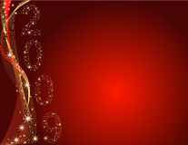 Christmas background. With stars on red Stock Illustration
