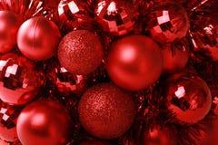 Christmas Background. Shiny Red Christmas Decoration Background royalty free stock photography