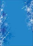 Christmas background. Blue christmas background with snowflakes royalty free illustration