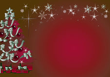 Christmas background. Sparkling red christmas background illustration Royalty Free Stock Image