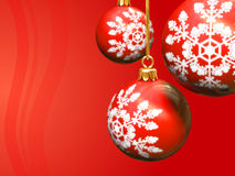 Christmas background. A computer generated red christmas background with balls vector illustration