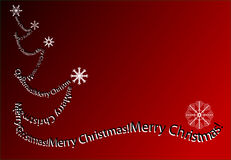 Christmas background. White Christmas tree with red background Stock Photo
