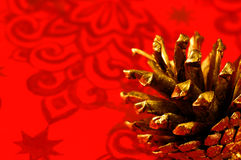 Christmas Background. Red Christmas background, christmas decoration Royalty Free Stock Photography